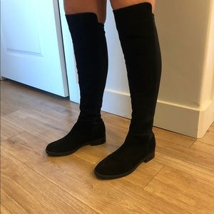 Blonde Over the Knee Boots